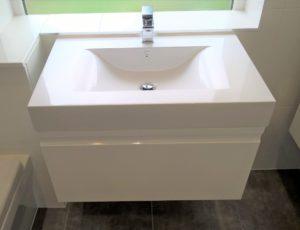 Floating Modern basin cabinet