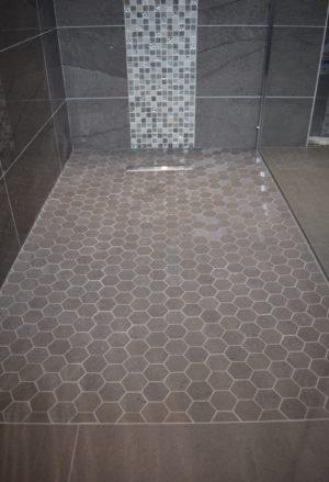 Mosaic wetroom floor