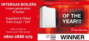 Intergas Boilers with 10 year warranty