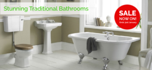 traditional bathroom sale now on